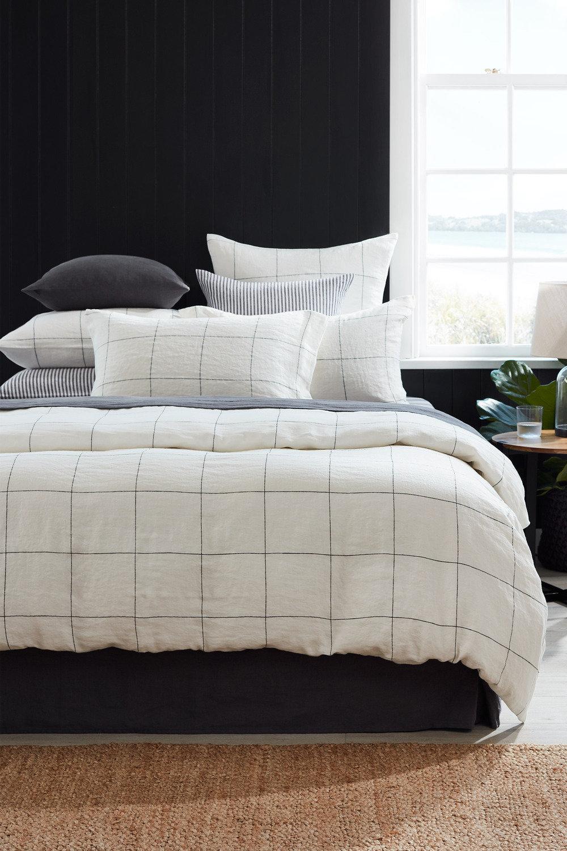 100/% Natural Pure Linen SLATE Quilt Doona Duvet Cover Set  All Sizes