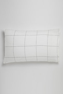 Hampton Linen Grid Pillowcase Pair - 229928