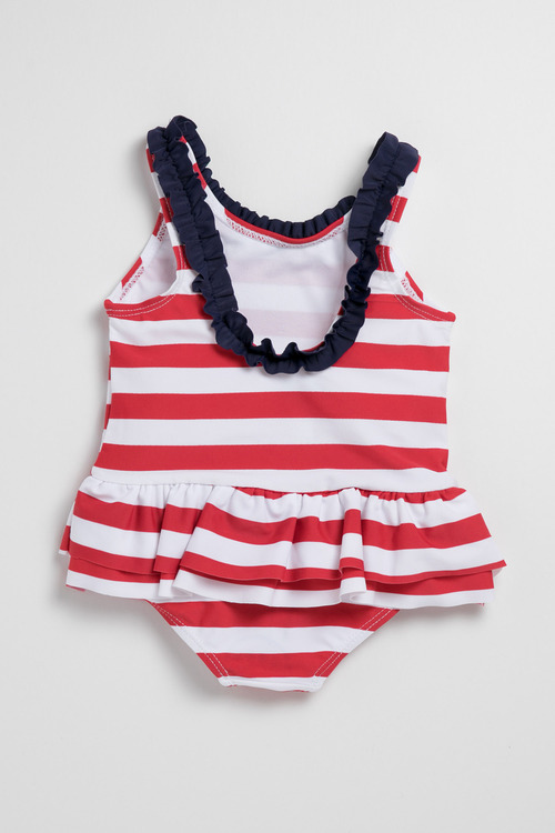 Pumpkin Patch Young Girls Swimsuit Stripe