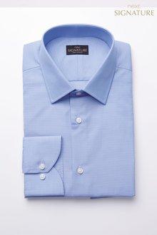 Next Signature Slim Fit Single Cuff Textured Shirt