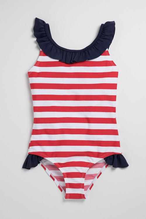 Pumpkin Patch Girls Swimsuit Stripe