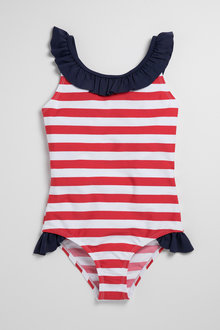 Pumpkin Patch Girls Swimsuit Stripe