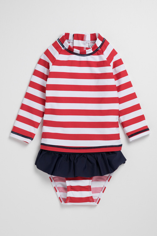 Pumpkin Patch Young Girls Rash Set Stripe