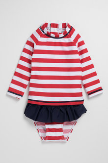 Pumpkin Patch Young Girls Rash Set Stripe - 229957