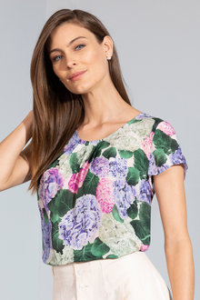 Grace Hill Silk Printed Top