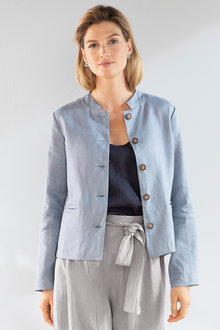Grace Hill Linen Button Up Jacket