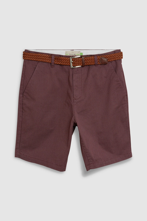Next Ditsy Print Belted Chino Shorts