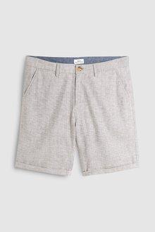 Next Herringbone Textured Chino Shorts