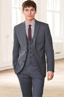 Next Textured Suit: Trousers- Tailored Fit - 229985
