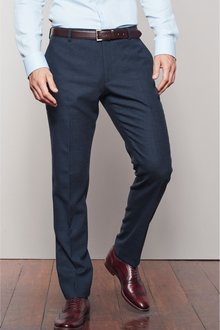 Next Signature Wool Blend Stretch Flannel Trousers- Slim Fit - 230010