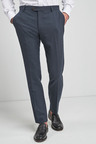 Next Signature Wool Blend Stretch Flannel Trousers- Slim Fit