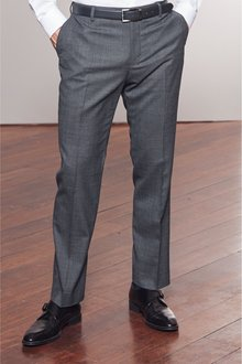 Next Signature Wool Blend Stretch Flannel Trousers- Tailored Fit - 230011