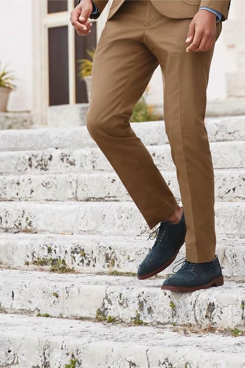 Next Cotton Suit: Trousers- Skinny Fit