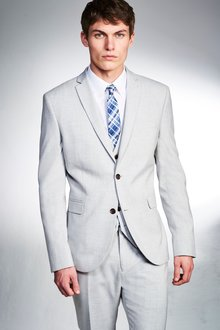 Next Stretch Marl Suit: Trousers- Slim Fit