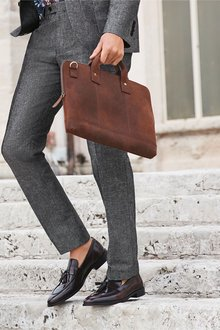 Next Cotton Suit: Trousers- Slim Fit