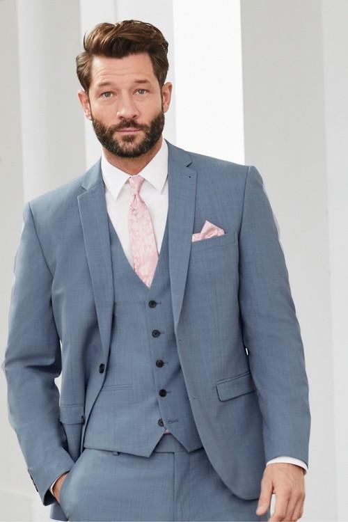 Next Wool Blend Stretch Suit: Jacket