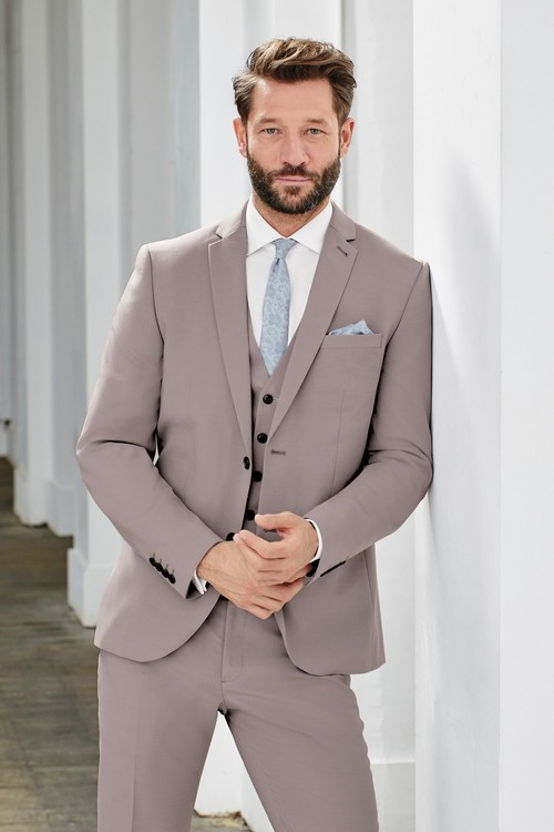 Next Wool Blend Stretch Suit: Trousers