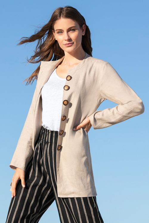 Capture Linen Longline Jacket