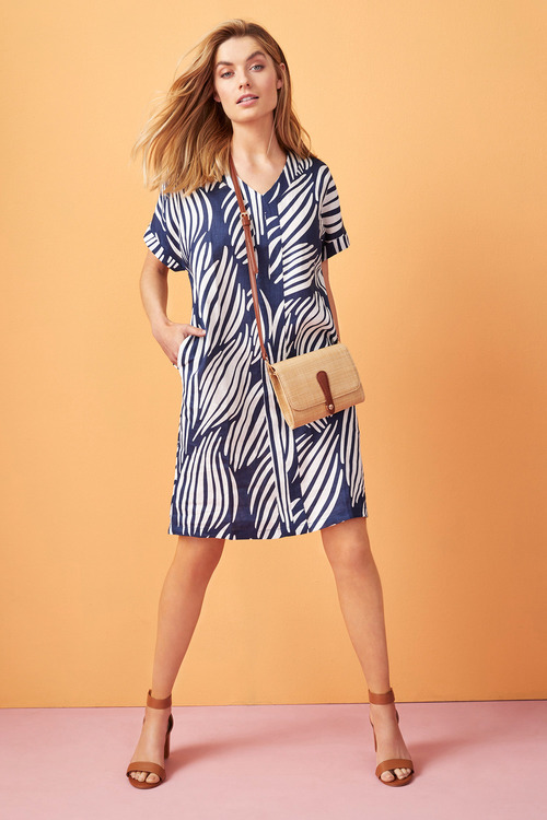 Capture Linen Panel Shift Dress