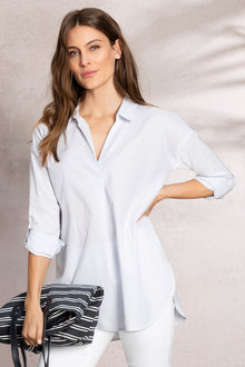 Capture 1/2 Placket Roll Sleeve Shirt