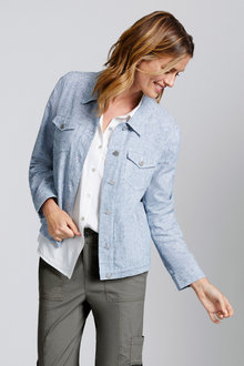 Capture Linen Blend Jacket - 230092
