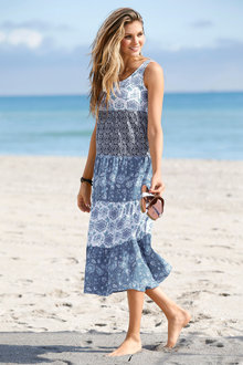 Urban Tiered Maxi Dress