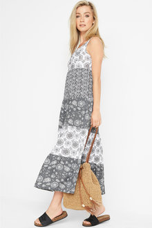 Urban Tiered Maxi Dress