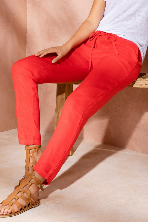 Emerge Linen Cuffed Pant