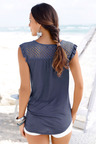 Urban Tie Front Top With Lace