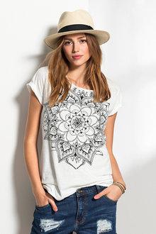 Urban Mandala Print T-Shirt