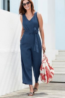 Next Wrap Tie Jumpsuit - 230253