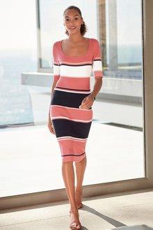 Next Square Neck Dress - 230288