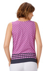 Euro Edit Border Print Tank Top