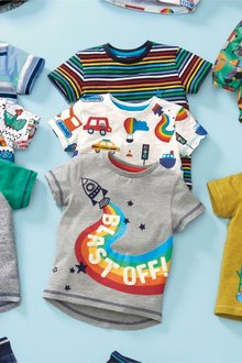 Next Rocket T-Shirts Three Pack (3mths-7yrs) - 230388
