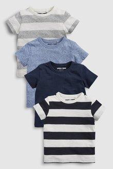 Next Short Sleeve T-Shirts Four Pack (3mths-7yrs)