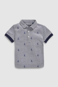 Next Embroidered Boat Polo (3mths-7yrs)