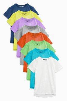Next Short Sleeve Essential T-Shirts Eight Pack (6mths-7yrs)