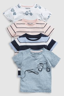Next Scooter T-Shirts Four Pack (3mths-7yrs)