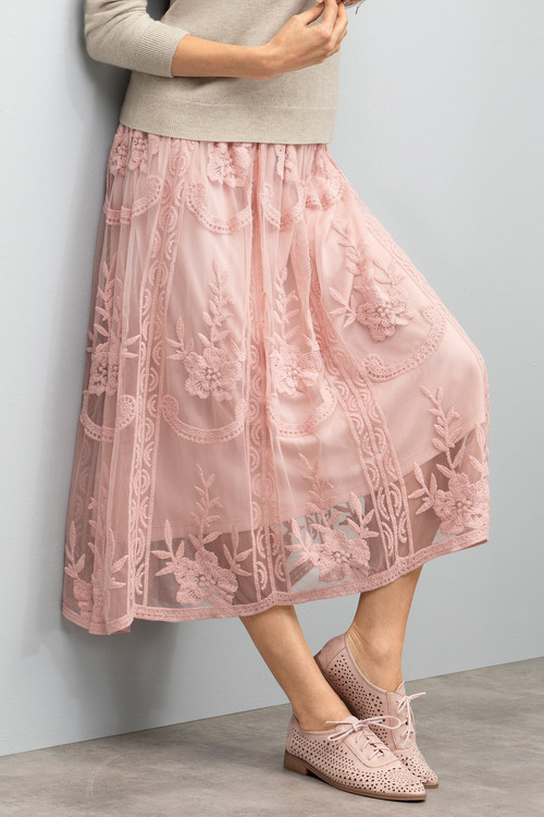 Grace Hill Embroidered Skirt