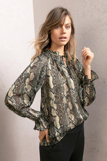 Emerge Ruffle Neck Blouse