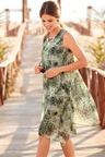 European Collection  Overlay Sleeveless Dress