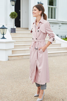 European Collection Long Trench Coat