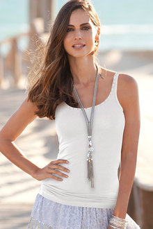 European Collection  Sequin Neck Tank Top - 230443