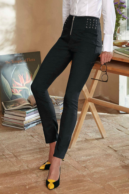 Heine Lace Up Jeans