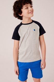 Next Short Sleeve Raglan T-Shirt (3-16yrs)