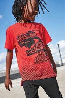 Next Checkerboard Dino T-Shirt (3-14yrs)