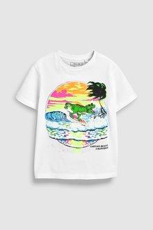 Next Surfing Dinosaur T-Shirt (3-14yrs)