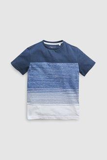 Next Stripe Textured T-Shirt (3-16yrs)