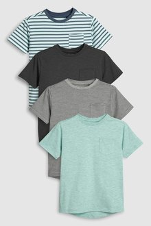 Next Textured T-Shirts Four Pack (3-16yrs)