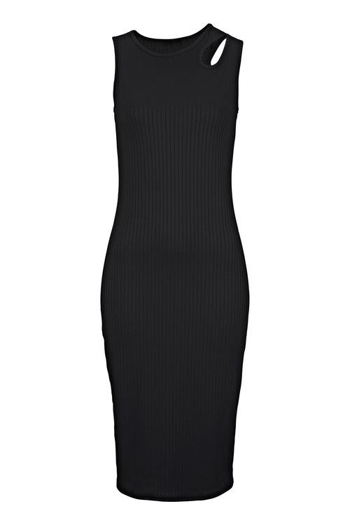 Urban Rib Dress with Shoulder Detail